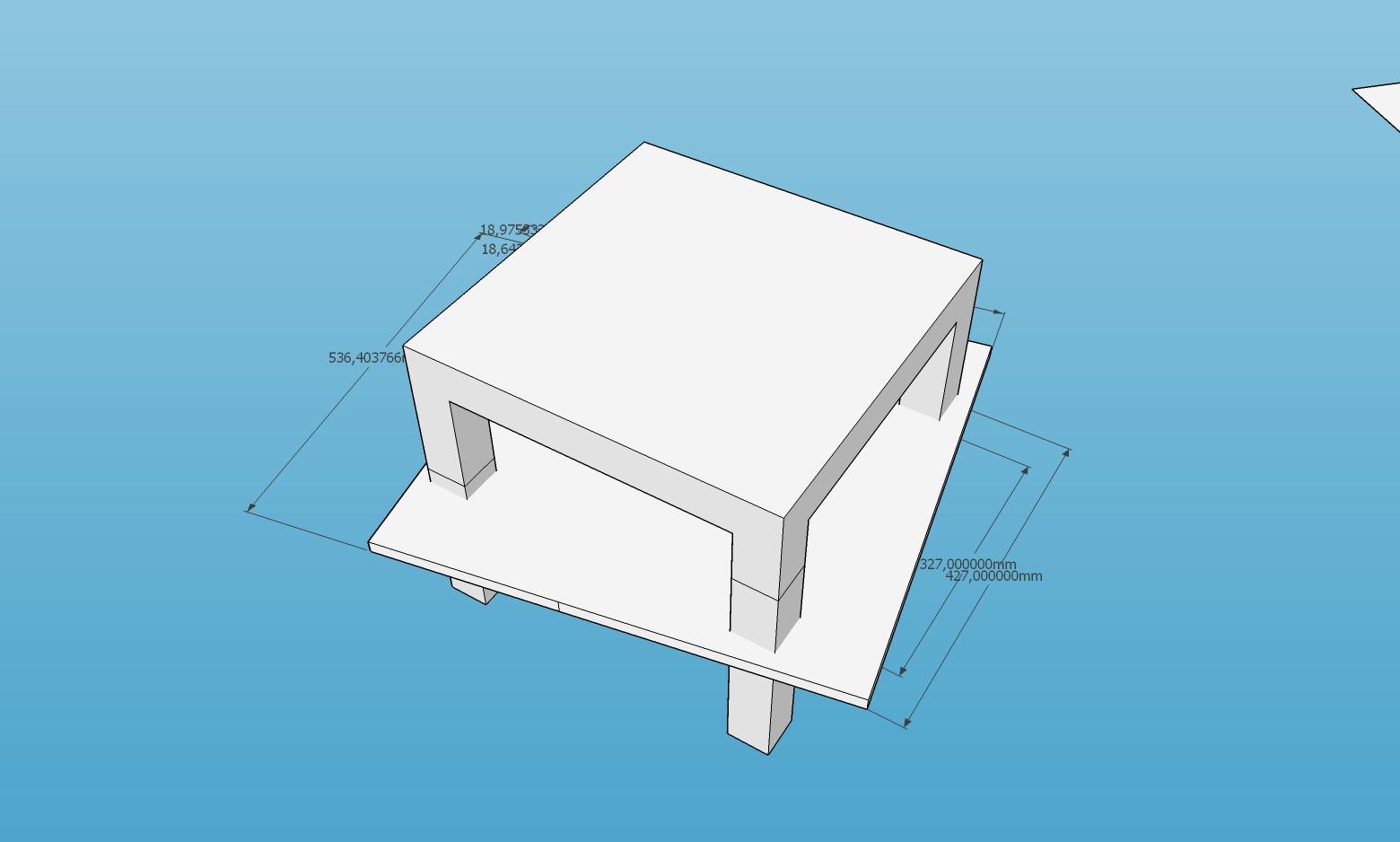 Lack Table extension 3d design