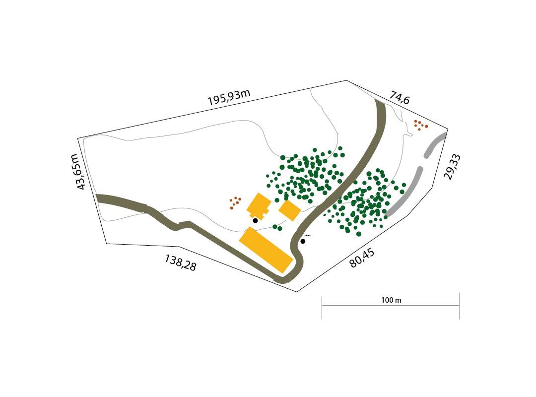 Plan of the permaculture premises