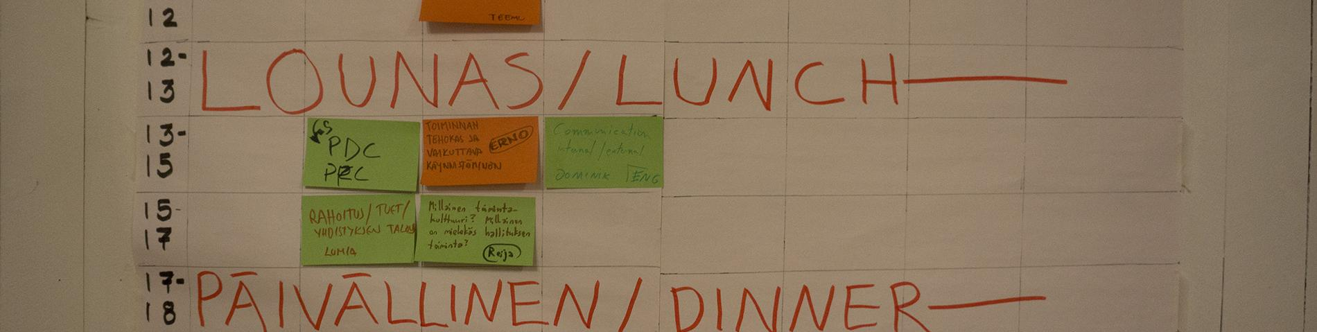 Finnish Permaculture Association workshop agenda