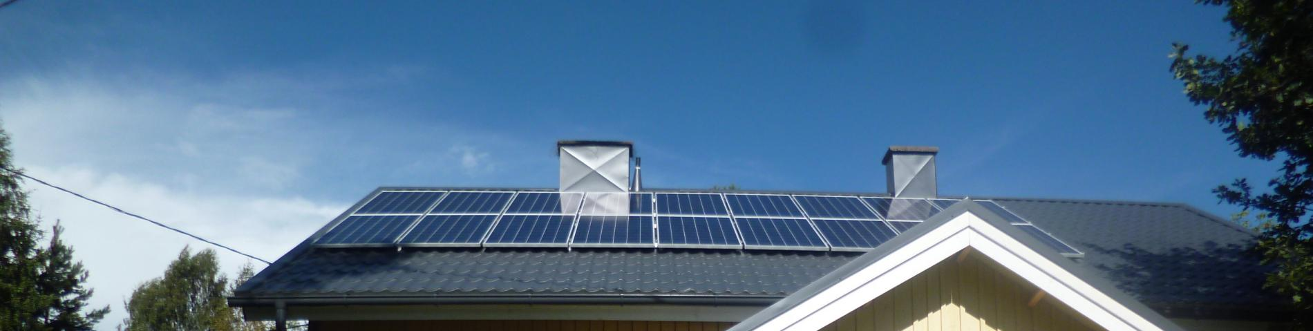 Newly installed PV system in Finland