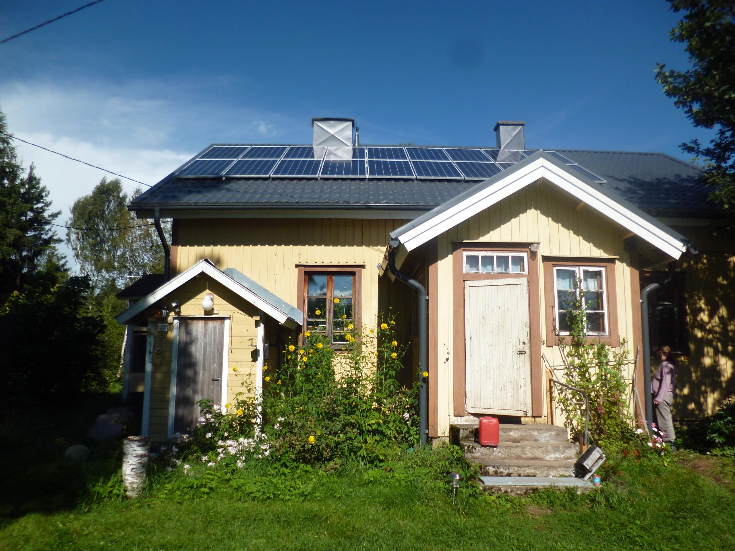4.6KWP Photovoltaic system on a house in Finland