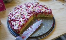 Delicious Red currant cake